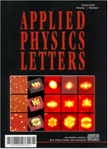 (Journal cover, Applied Physics Letters) Volume 89 Issue 20 (2006)