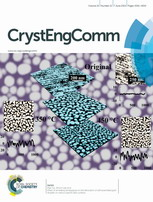 (Journal cover, CrystEngComm) Volume 16 Issue 21 (2014)