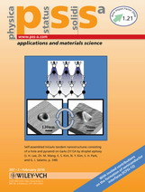 (Journal cover, Physica Status Solidi (a) Volume 207 Issue 2 (2010)