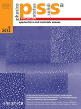 (Journal cover, Physica Status Solidi (a)) Volume 209 Issue 6 (2012)